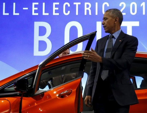 President Obama at the Detroit Auto Show